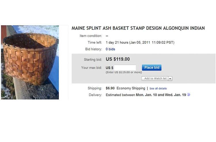 black ash basket